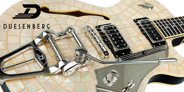 Duesenberg guitars, made in Germany and available in the UK from 440 Distribution.